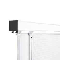3-channel junior / senior wall rail | White boards | HOLTZ