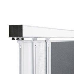 4-channel junior / senior / junior wall rail | White boards | HOLTZ