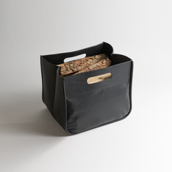 U-Board leather bag | wood log holder | Log holders | lebenszubehoer by stef's