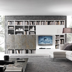 Pari & Dispari Sliding door arrangements | Multimedia sideboards | Presotto