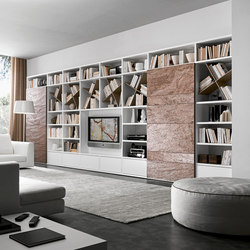 Pari & Dispari Sliding door arrangements | Wall storage systems | Presotto