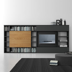 Pari & Dispari Sliding door arrangements | Muebles Hifi / TV | Presotto