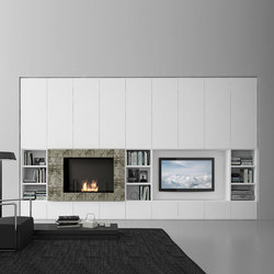 Pari & Dispari Arrangements with fireplaces | Cabinets | Presotto