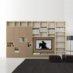 Pari & Dispari Swing door arrangements | Muebles Hifi / TV | Presotto