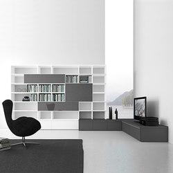 Pari & Dispari Bookcases | Wall storage systems | Presotto