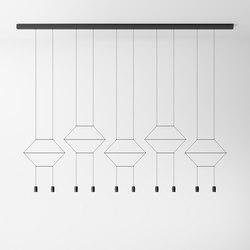 Wireflow Lineal 0330 Pendant lamp | General lighting | Vibia