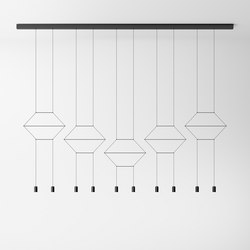 Wireflow Lineal 0332 Pendant lamp | Suspended lights | Vibia
