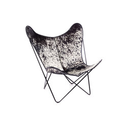 Hardoy Butterfly Chair Kuhfell Salt and Pepper | Lounge chairs | Manufakturplus