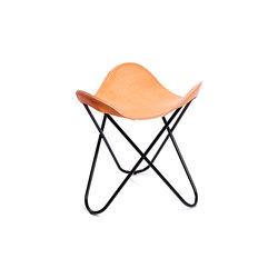 Hardoy | Stool Saddle Leather | Tabourets | Manufakturplus