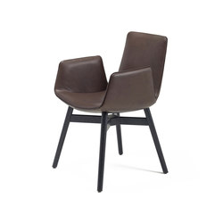 Amelie | Armchair with wooden frame with cross | Chairs | Freifrau Sitzmöbelmanufaktur