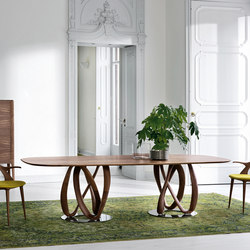 Infinity due basi piano legno - ovale | Dining tables | Porada