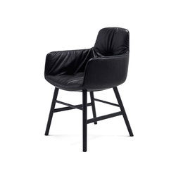 Leya | Armchair High with wooden frame round | Chaises | Freifrau Sitzmöbelmanufaktur