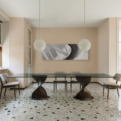 Elika a due basi | Dining tables | Porada