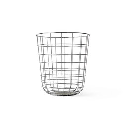 Wire Bin, Chrome | Waste baskets | MENU