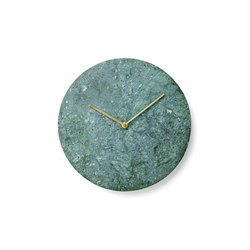 Marble Wall Clock, Green | Orologi | MENU