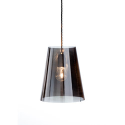 Fade pendant light blackened stainless steel | Suspended lights | Nyta