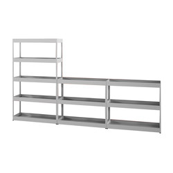 New Order Home Irregular Open Shelf with Trays | Regale | Hay