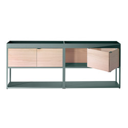 New Order Home Double Sideboard with Top Tray | Bibliothèques | Hay