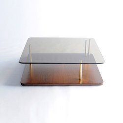 Points of Interest Coffee Table, Wood Base | Tables basses | Phase Design