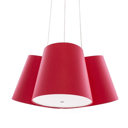 Cluster red-red-red | Suspended lights | frauMaier.com