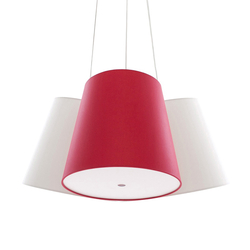 Cluster white-red-white | Suspended lights | frauMaier.com