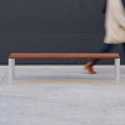 Harpo Backless Bench | Exterior benches | Santa & Cole
