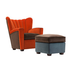 Zarina Armchair and pouf | Fauteuils | adele-c