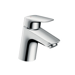 Hansgrohe Logis Single lever basin mixer 70 with push-open waste set for vented hot water cylinders | Wash-basin taps | Hansgrohe