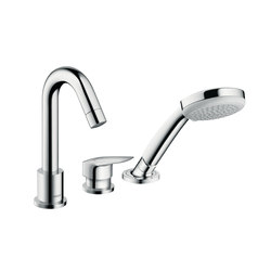 Hansgrohe Logis 3-hole rim mounted single lever bath mixer | Bath taps | Hansgrohe