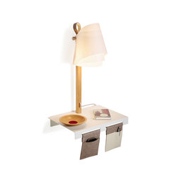 FLÄKS | Shelf with built-in lamp | Shelving | Domus