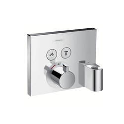 Hansgrohe ShowerSelect thermostatic mixer for concealed installation for 2 functions with FixFit and porter unit | Shower taps / mixers | Hansgrohe