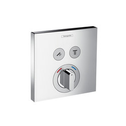 Hansgrohe ShowerSelect mixer for concealed installation for 2 functions | Robinetterie de douche | Hansgrohe