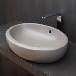Lavabo appoggio ovale abbacchiatori pneumatici for Lavabo softly