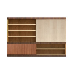 Maschera bookcase | Wall storage systems | Morelato