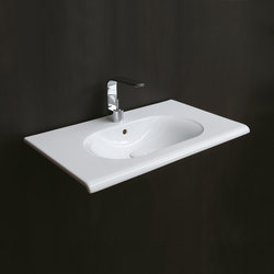 Fluid wall-hung washbasin 100 | Wash basins | Ceramica Cielo