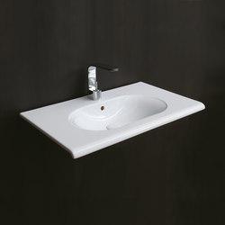 Fluid lavabo sospeso 100 | Lavabi / Lavandini | Ceramica Cielo