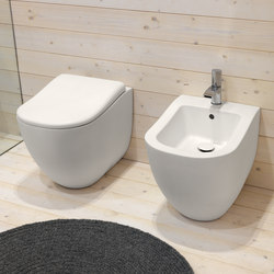 Fluid back to wall wc | bidet | Toilets | Ceramica Cielo