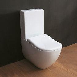 Fluid monoblock toilet + monoblock cistern | Toilets | Ceramica Cielo