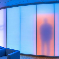 Philips luminous textile with Kvadrat Soft Cells | Trennwandsysteme | Philips Lighting