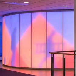 Philips luminous textile with Kvadrat Soft Cells | Wall partition systems | Philips Lighting