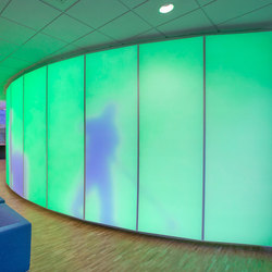 Philips luminous textile with Kvadrat Soft Cells | Partition wall systems | Philips Lighting