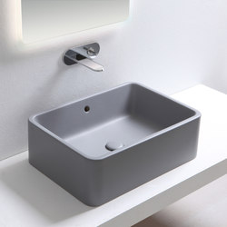 Shui rectangular on top washbasin 60 | Wash basins | Ceramica Cielo