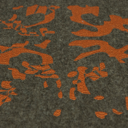 Unfinished | brown & orange | Tapis / Tapis design | Naturtex