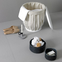 Bowl Basket Stool + Canvas Sack | Cesti portabiancheria | Inbani