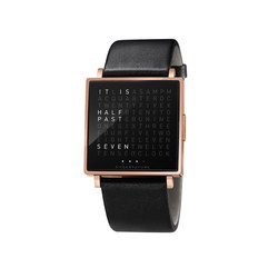 QLOCKTWO® W Rosegold Polished | Wrist watches | BIEGERT&FUNK