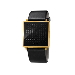 QLOCKTWO® W Yellowgold Brushed | Wrist watches | BIEGERT&FUNK