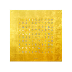 QLOCKTWO® LARGE CREATOR'S EDITION Gold | Clocks | BIEGERT&FUNK