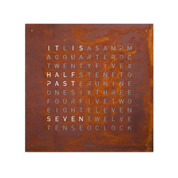 QLOCKTWO® LARGE CREATOR'S EDITION Rust | Clocks | BIEGERT&FUNK