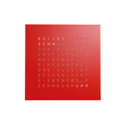 QLOCKTWO® CLASSIC – POWDER COATED Red Pepper | Clocks | BIEGERT&FUNK
