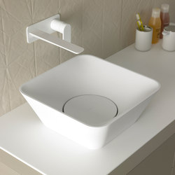Fluent Countertop Cristalplant® Washbasin | Wash basins | Inbani